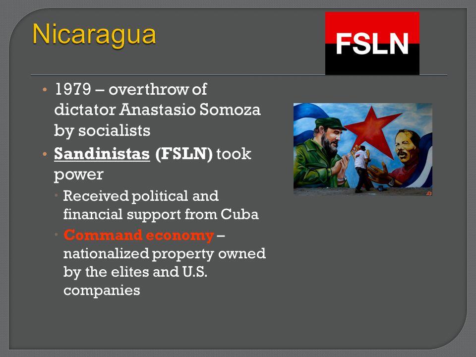 Nicaragua 1979 – overthrow of dictator Anastasio Somoza by socialists
