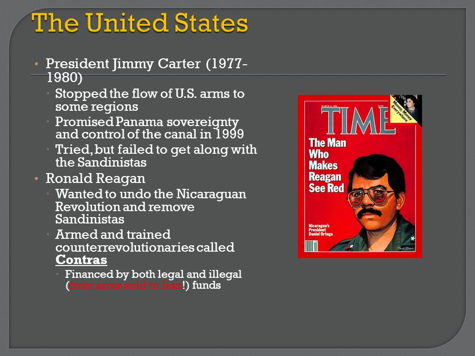 The United States President Jimmy Carter (1977- 1980) Ronald Reagan