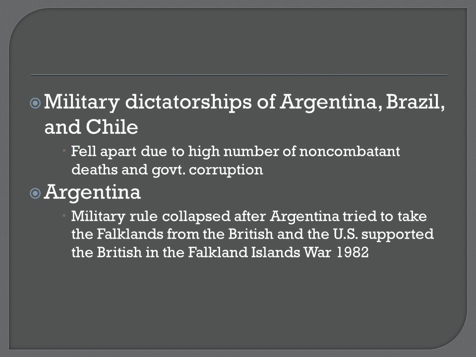 Military dictatorships of Argentina, Brazil, and Chile