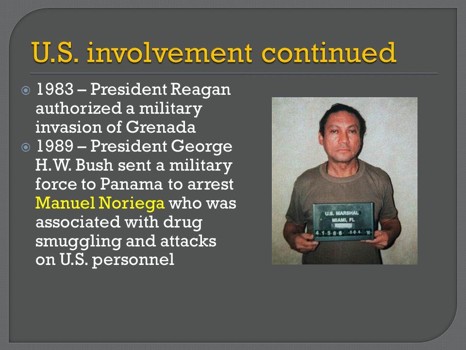 U.S. involvement continued