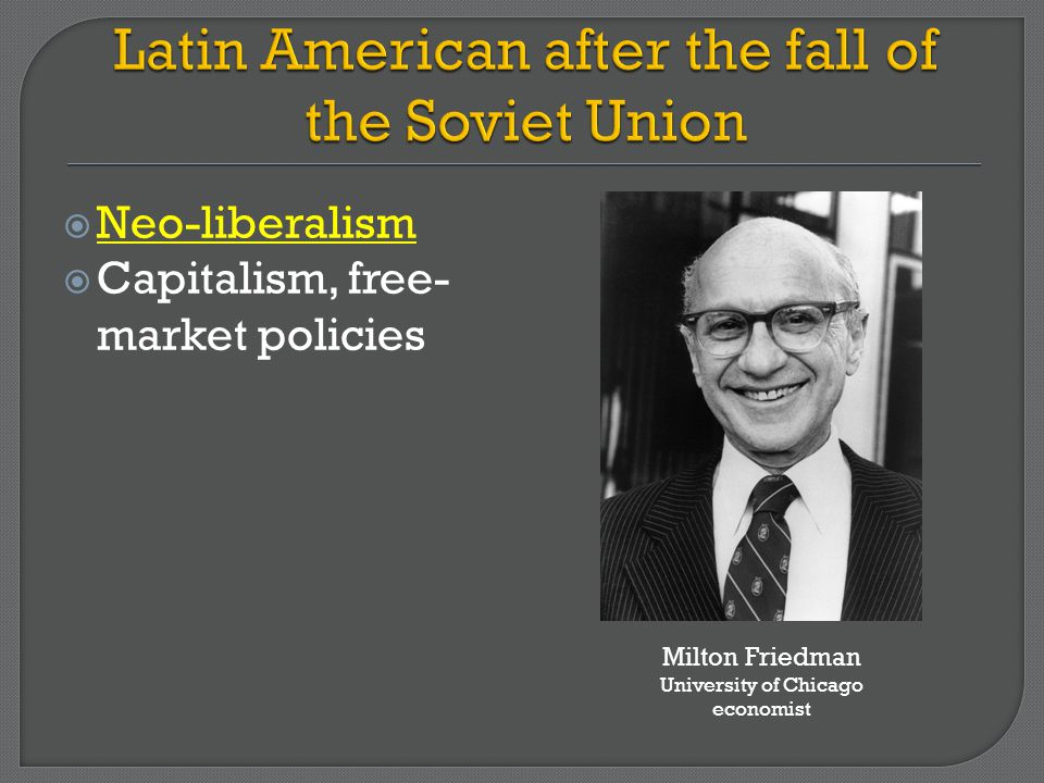 Latin American after the fall of the Soviet Union