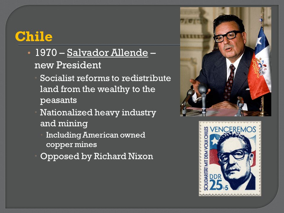 Chile 1970 – Salvador Allende – new President