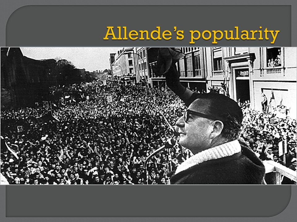 Allende's popularity