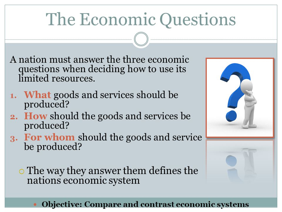 The Economic Questions
