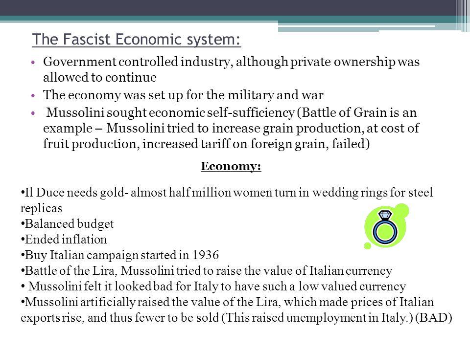 The Fascist Economic system:
