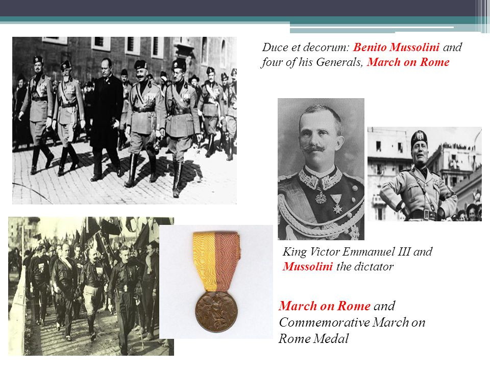 March on Rome and Commemorative March on Rome Medal