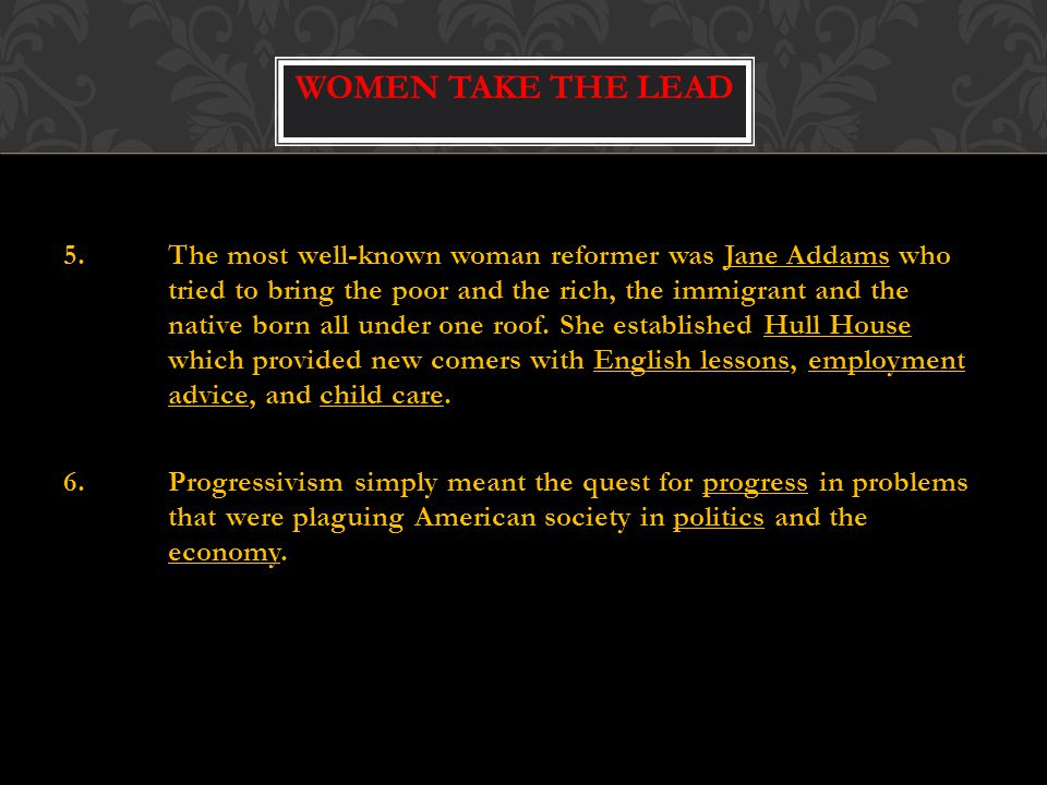 Women Take the Lead