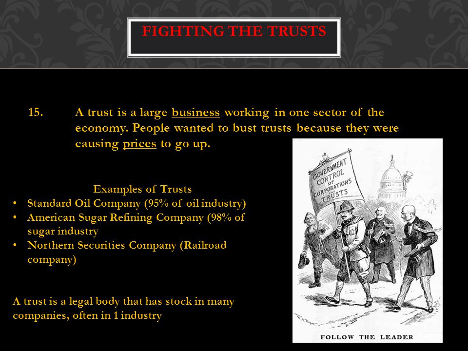 Fighting the Trusts