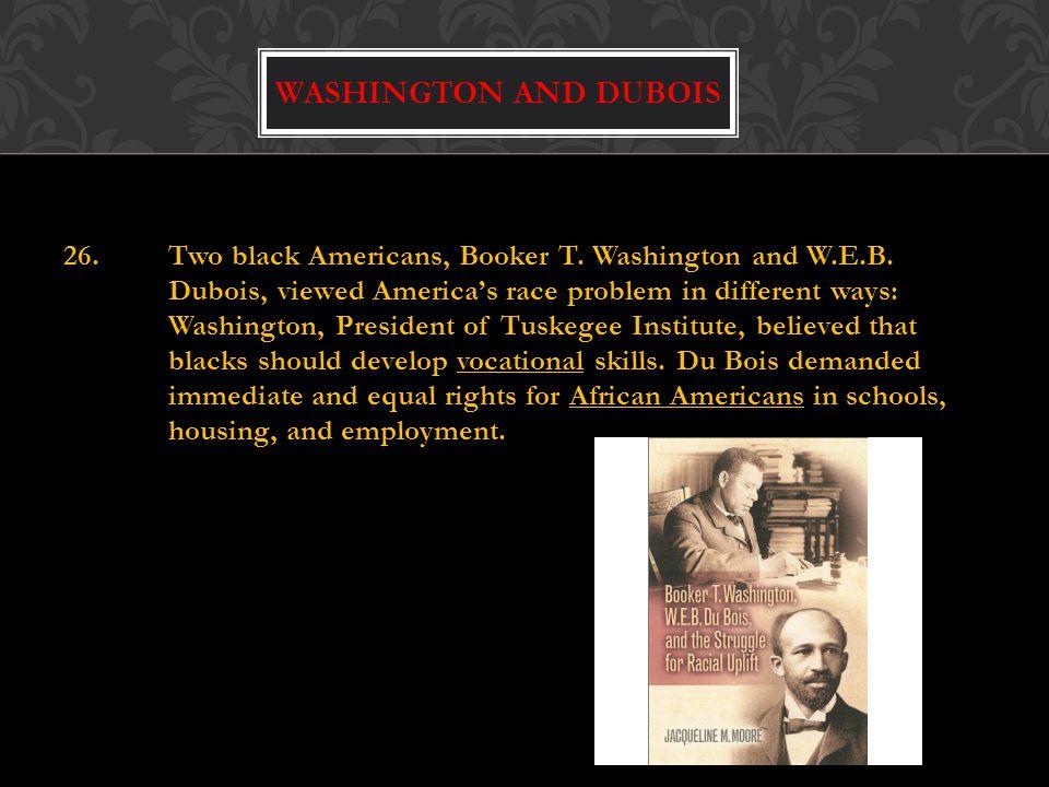 Washington and dubois