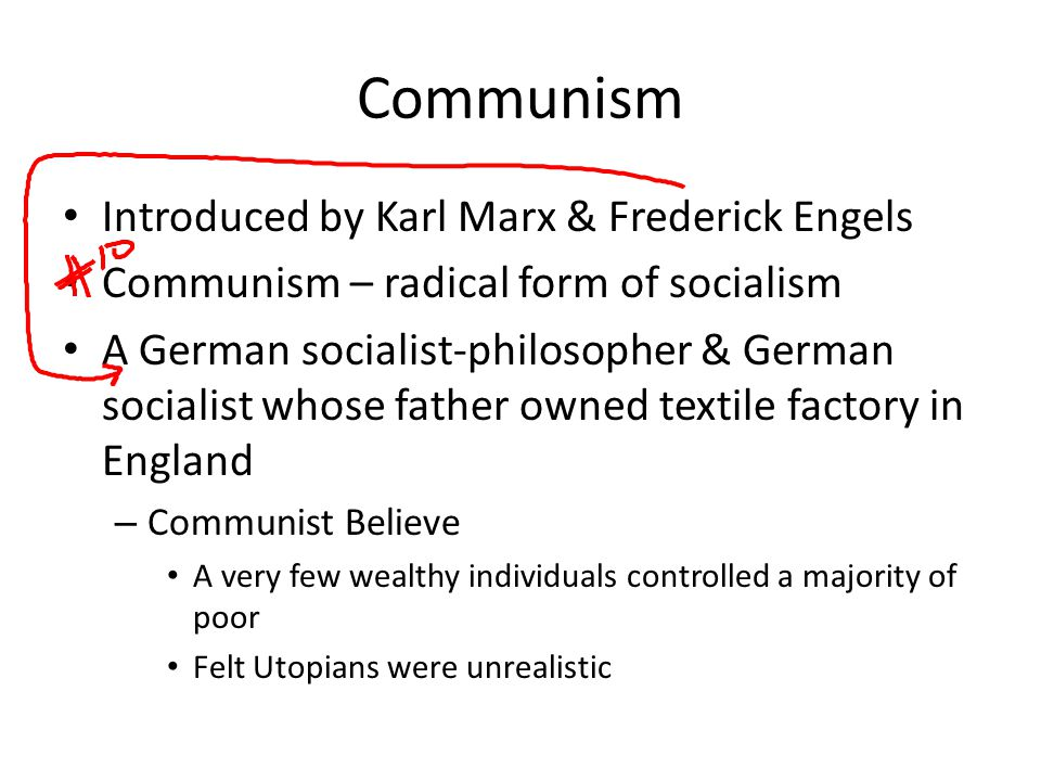 Communism Introduced by Karl Marx & Frederick Engels