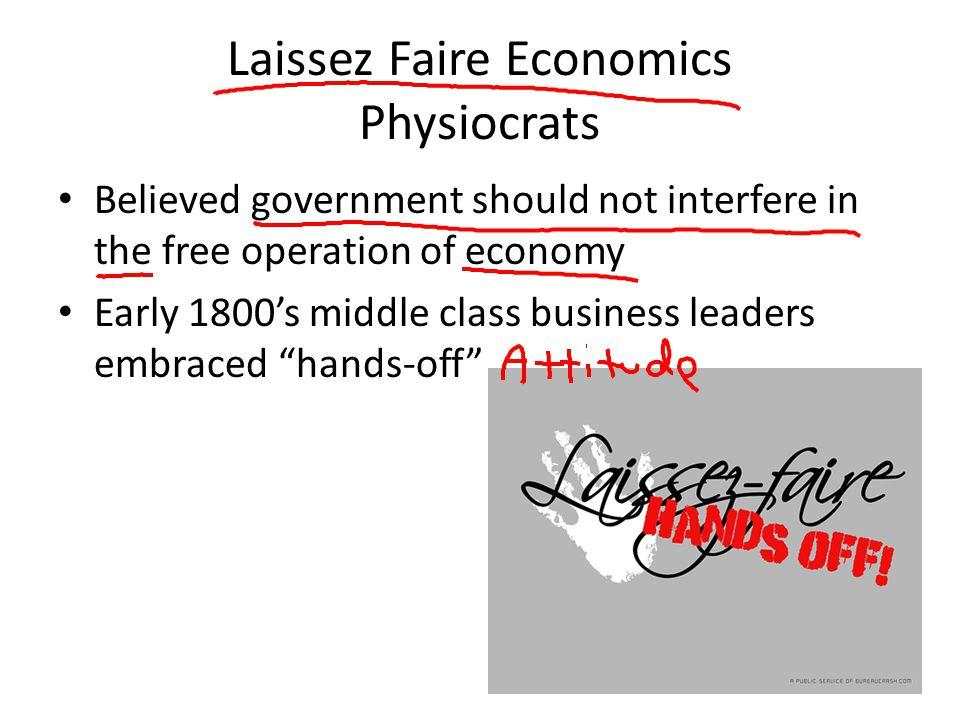 Laissez Faire Economics Physiocrats
