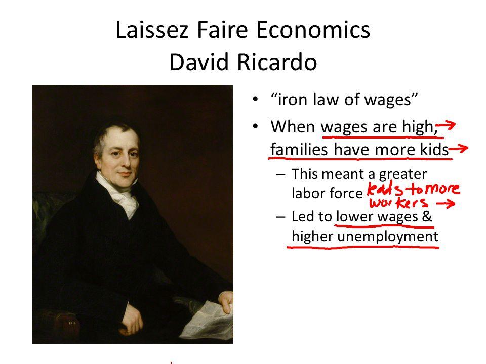 Laissez Faire Economics David Ricardo