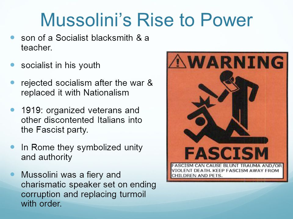 Mussolini's Rise to Power