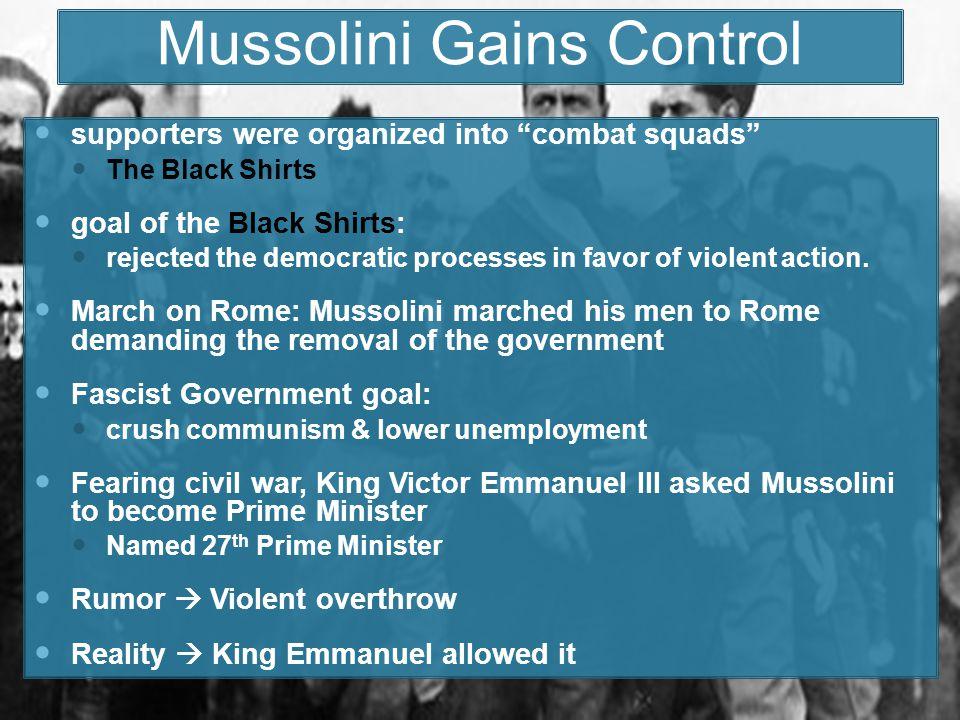 Mussolini Gains Control