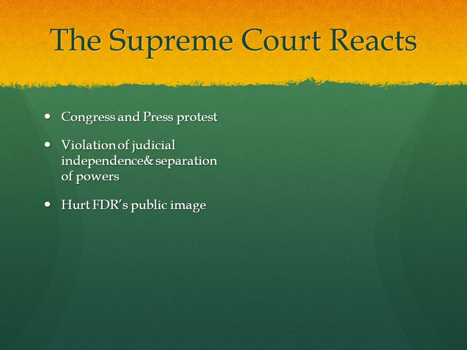 The Supreme Court Reacts