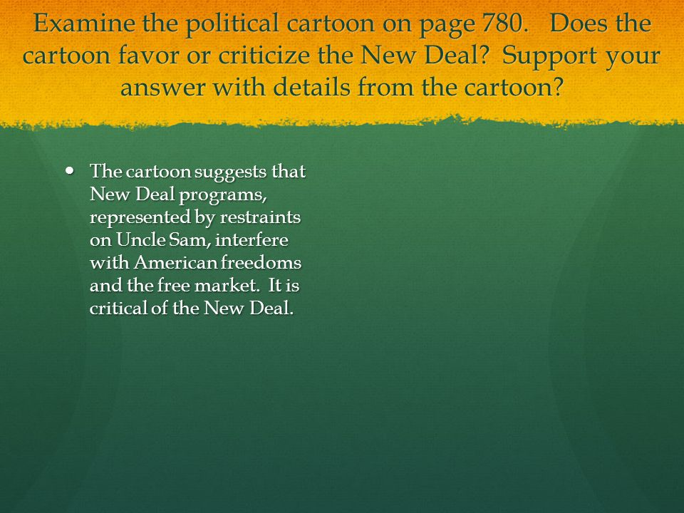 Examine the political cartoon on page 780
