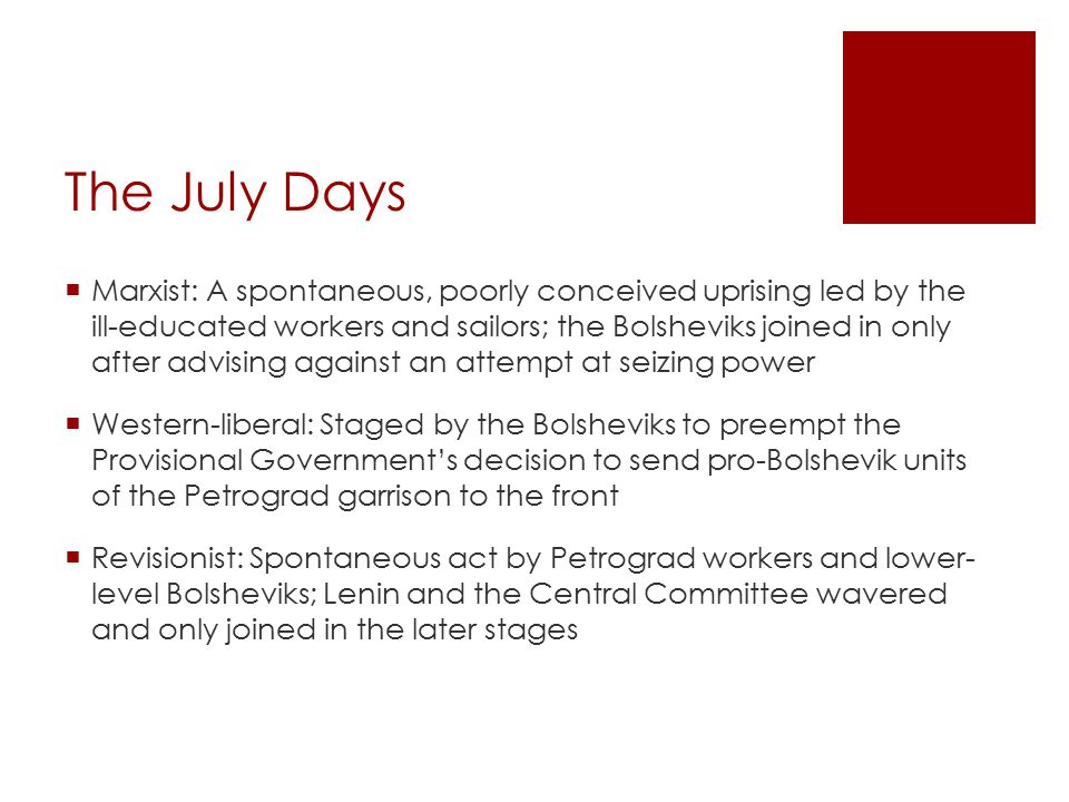The July Days