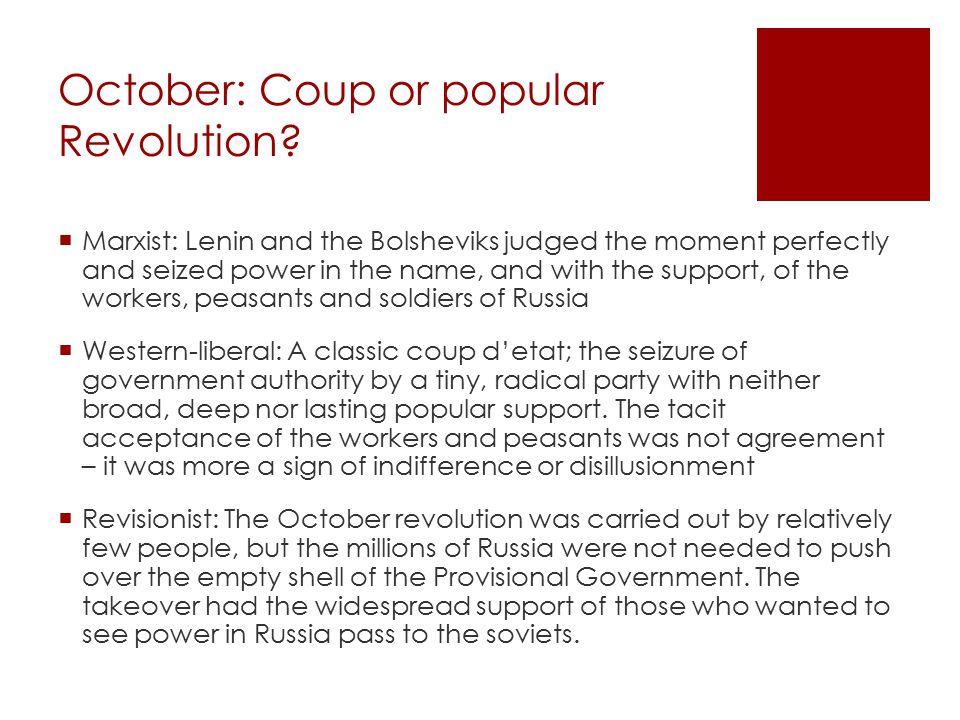 October: Coup or popular Revolution