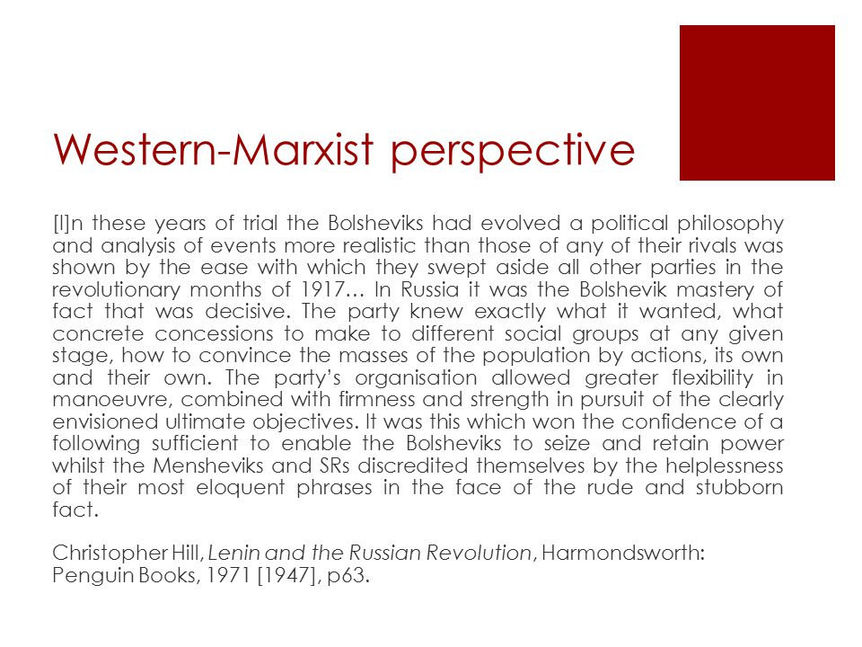 Western-Marxist perspective