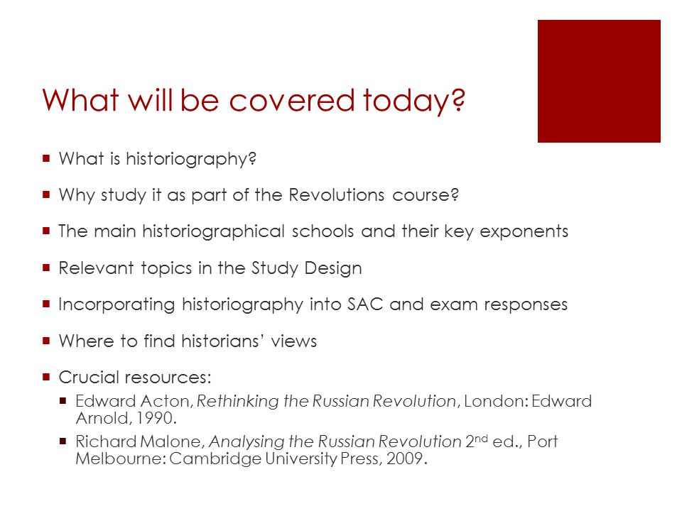 What will be covered today