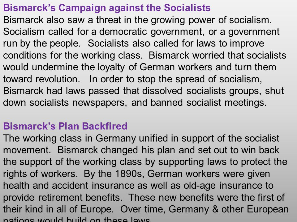 Bismarck's Campaign against the Socialists