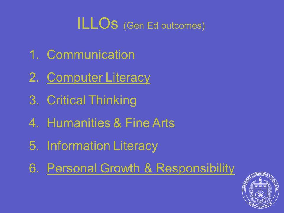 ILLOs (Gen Ed outcomes)