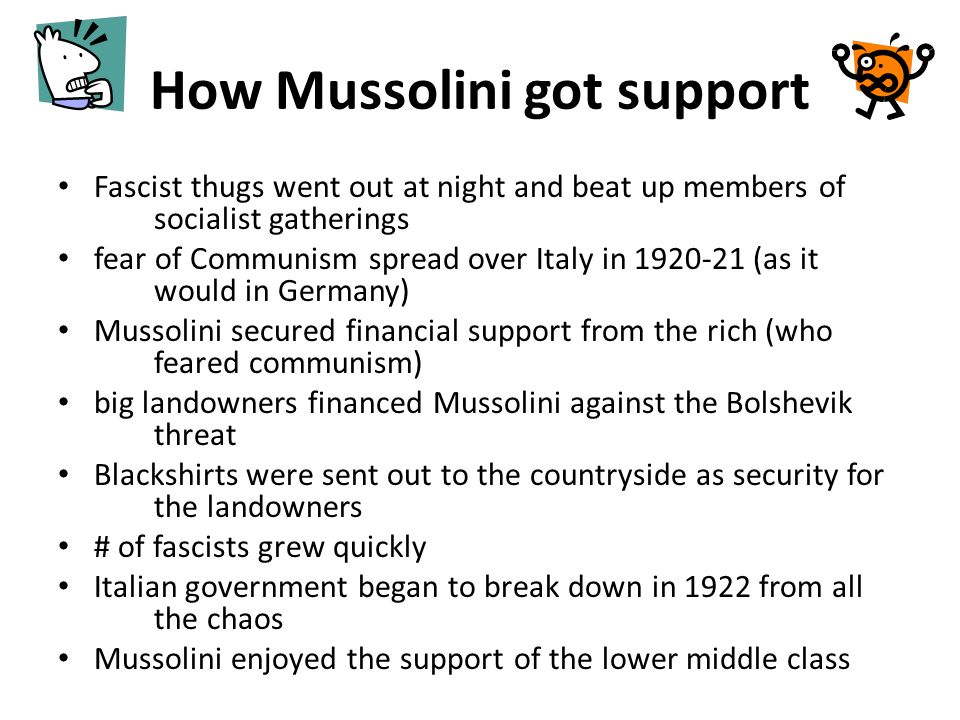 How Mussolini got support