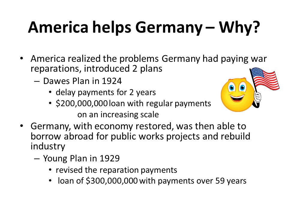 America helps Germany – Why