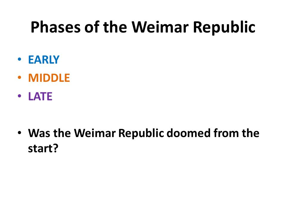 Phases of the Weimar Republic