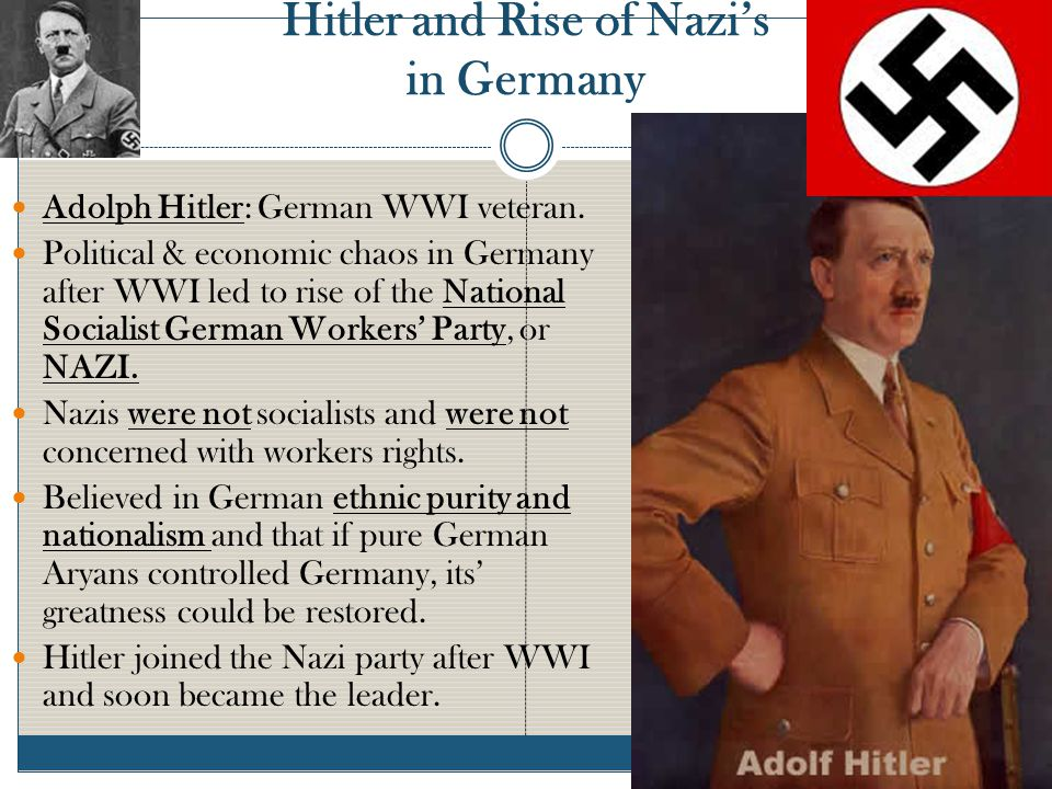 Hitler and Rise of Nazi's in Germany