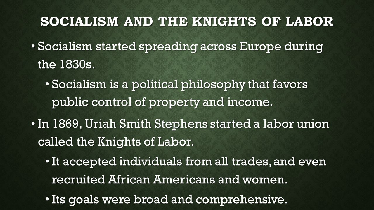 Socialism and the Knights of Labor