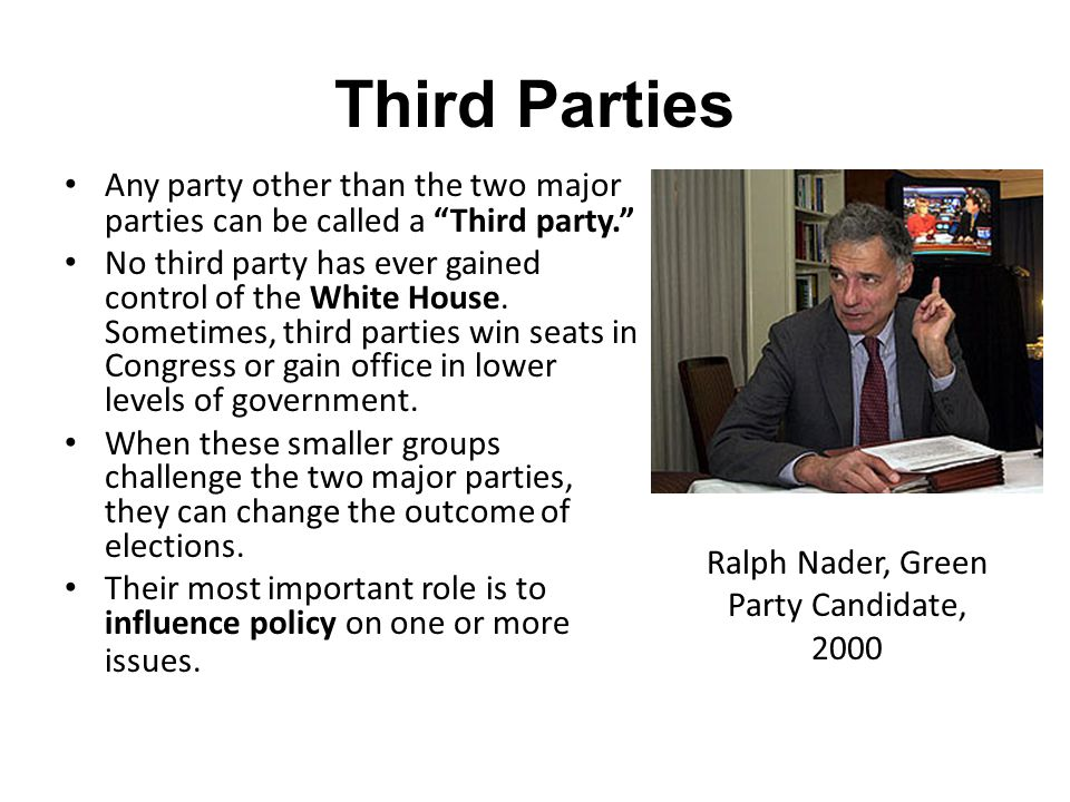 Ralph Nader, Green Party Candidate, 2000