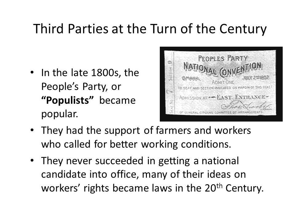 Third Parties at the Turn of the Century