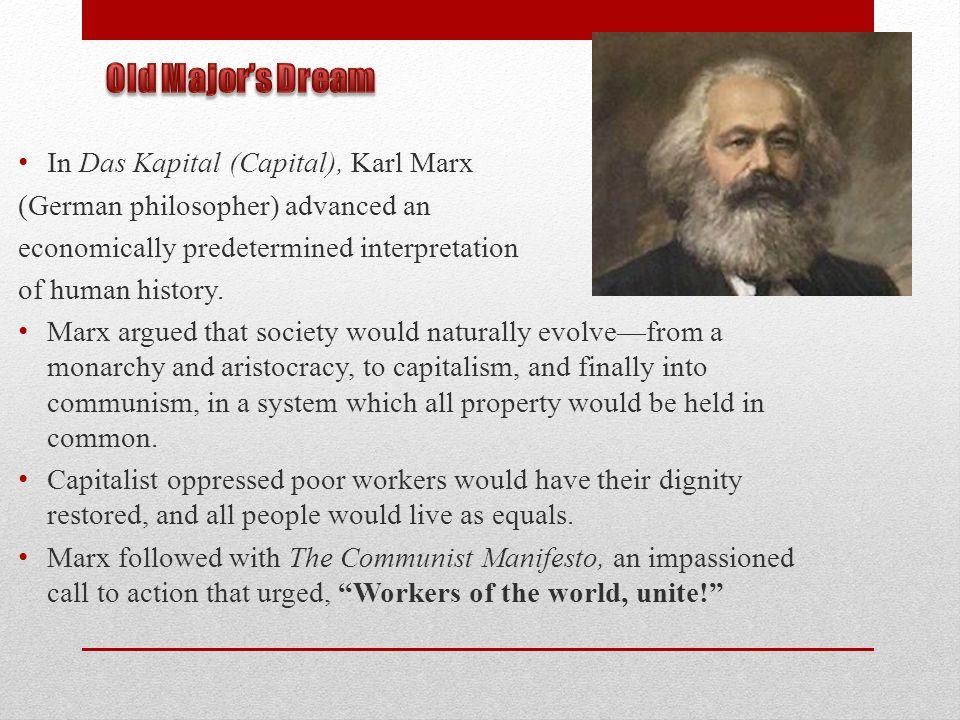 Old Major's Dream In Das Kapital (Capital), Karl Marx