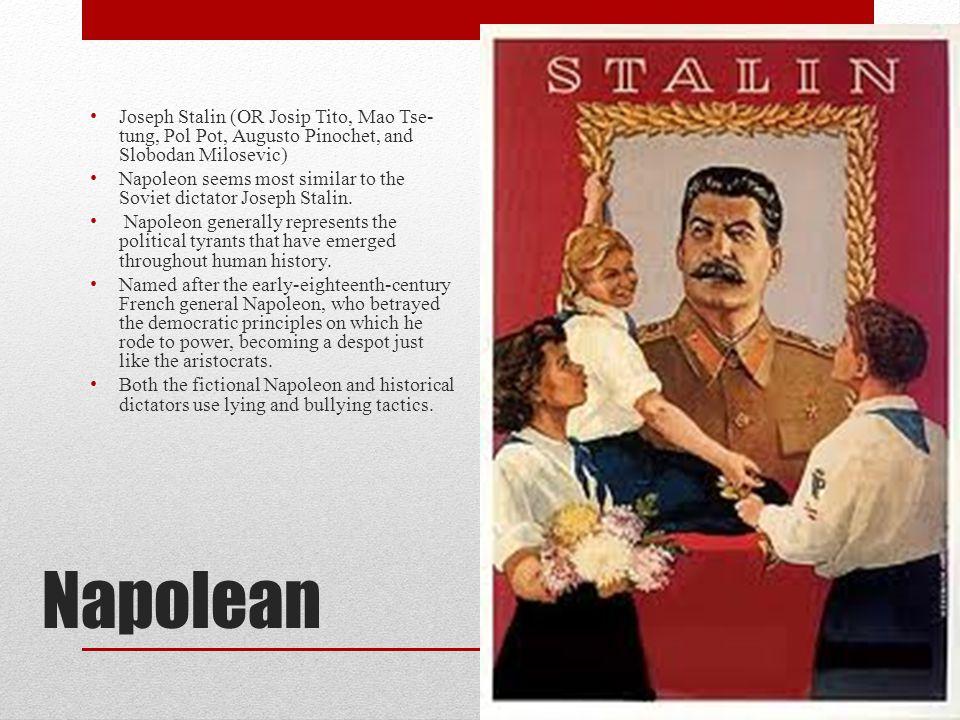 Joseph Stalin (OR Josip Tito, Mao Tse-tung, Pol Pot, Augusto Pinochet, and Slobodan Milosevic)