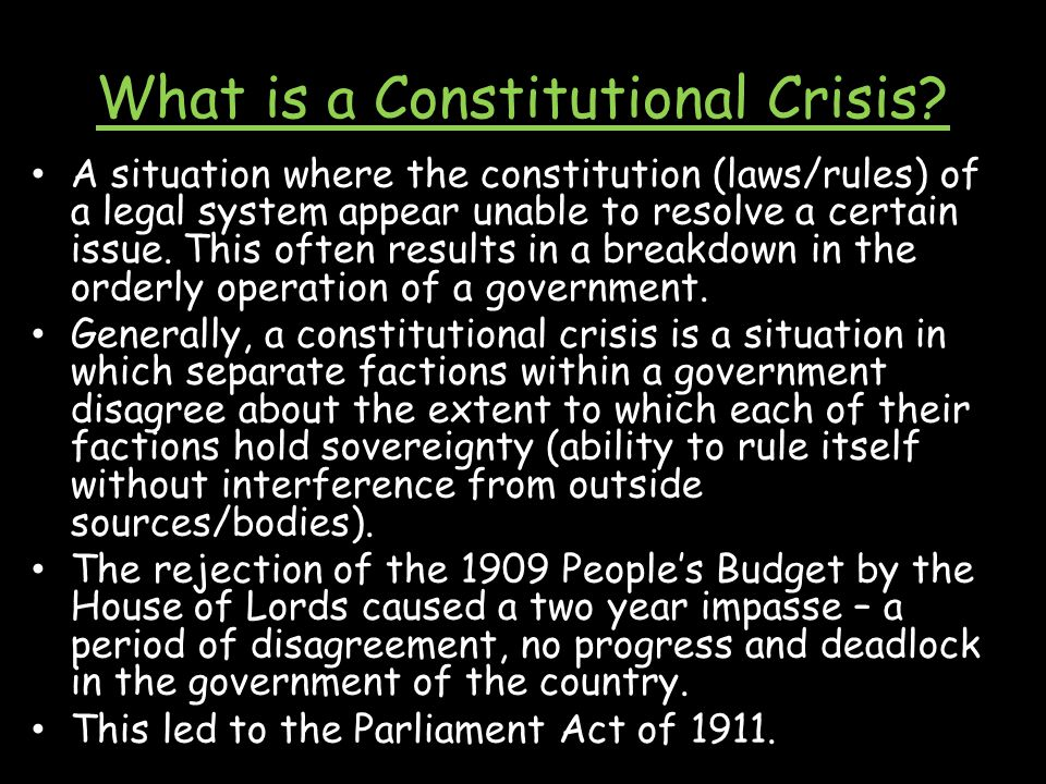 What is a Constitutional Crisis