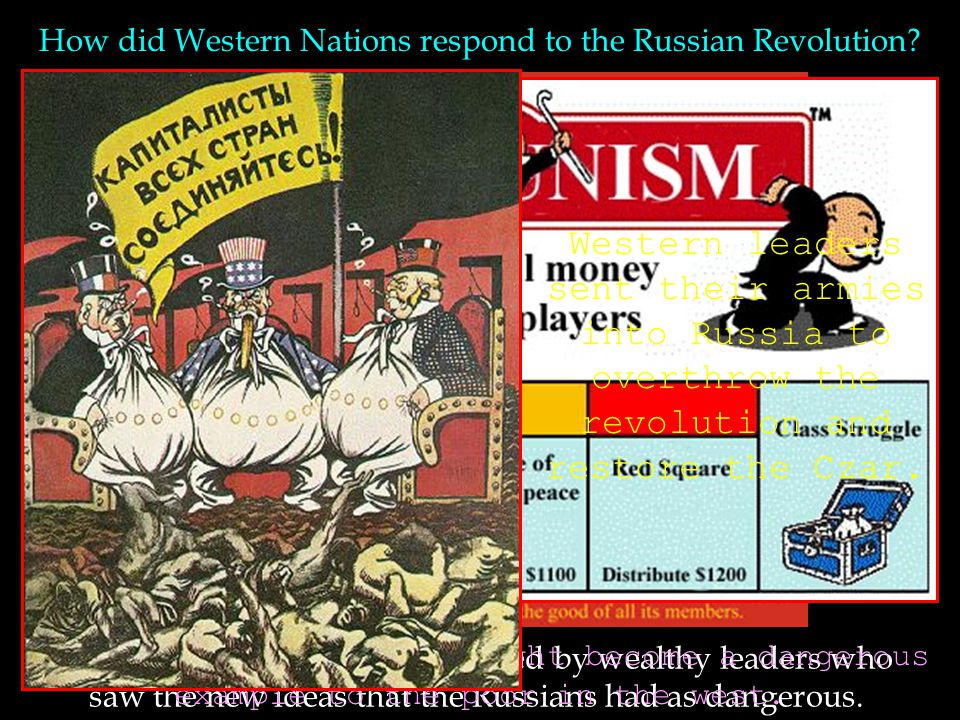 How did Western Nations respond to the Russian Revolution