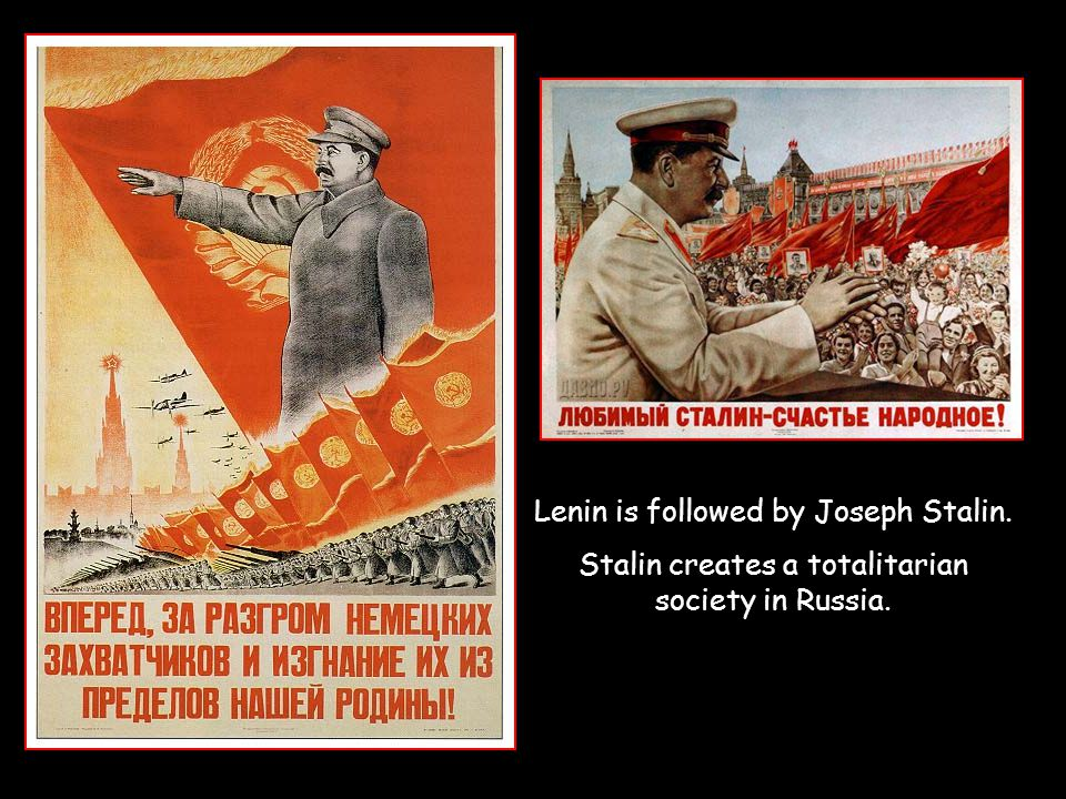 Lenin is followed by Joseph Stalin.