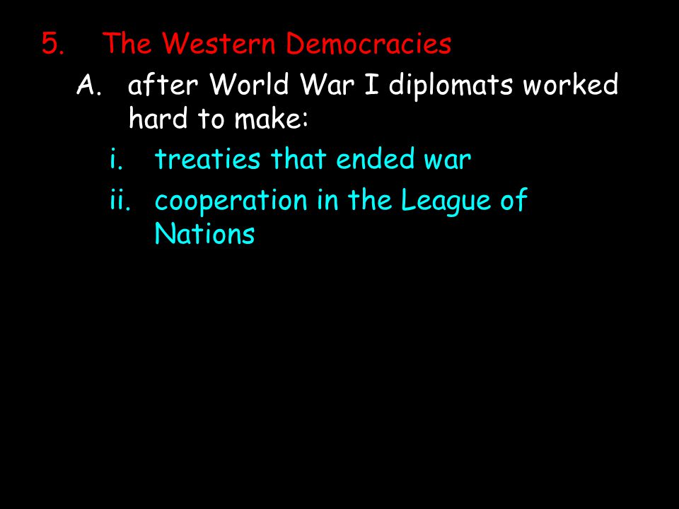 The Western Democracies