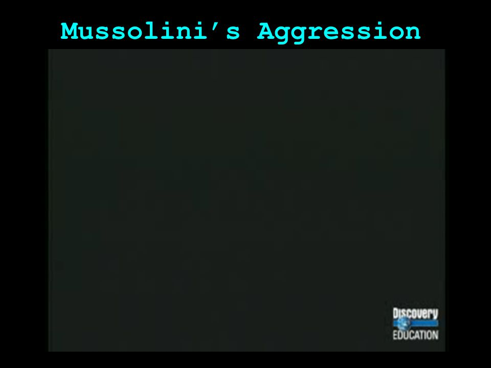 Mussolini's Aggression