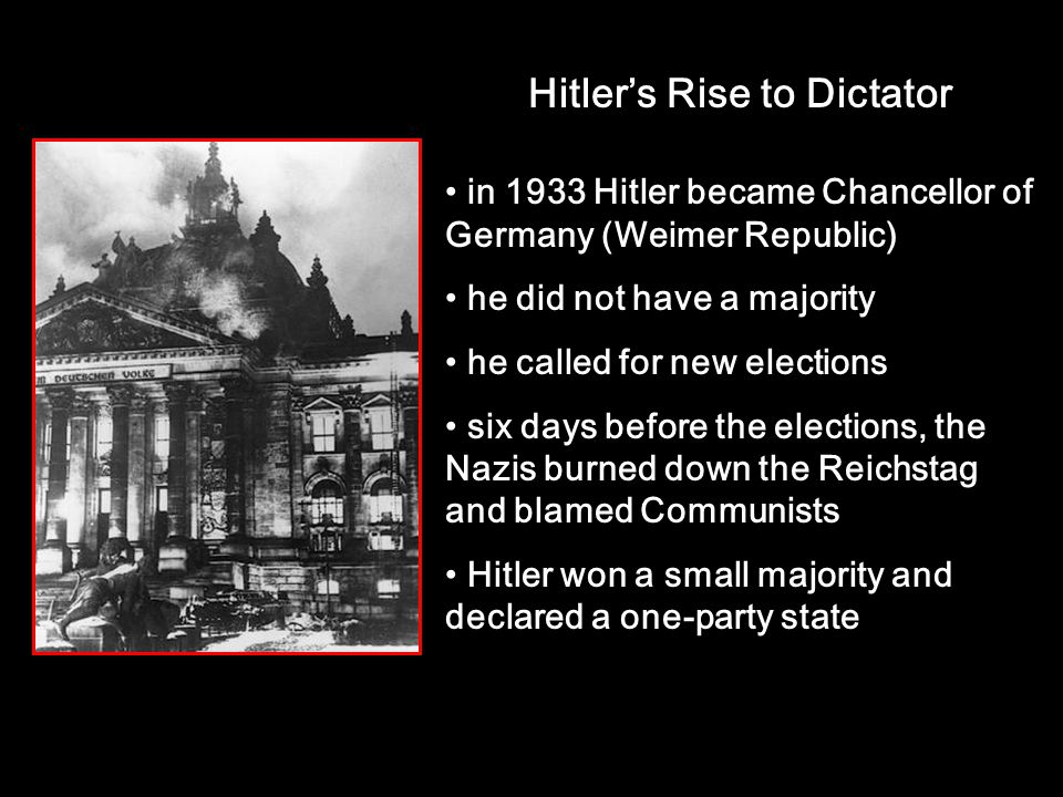 Hitler's Rise to Dictator