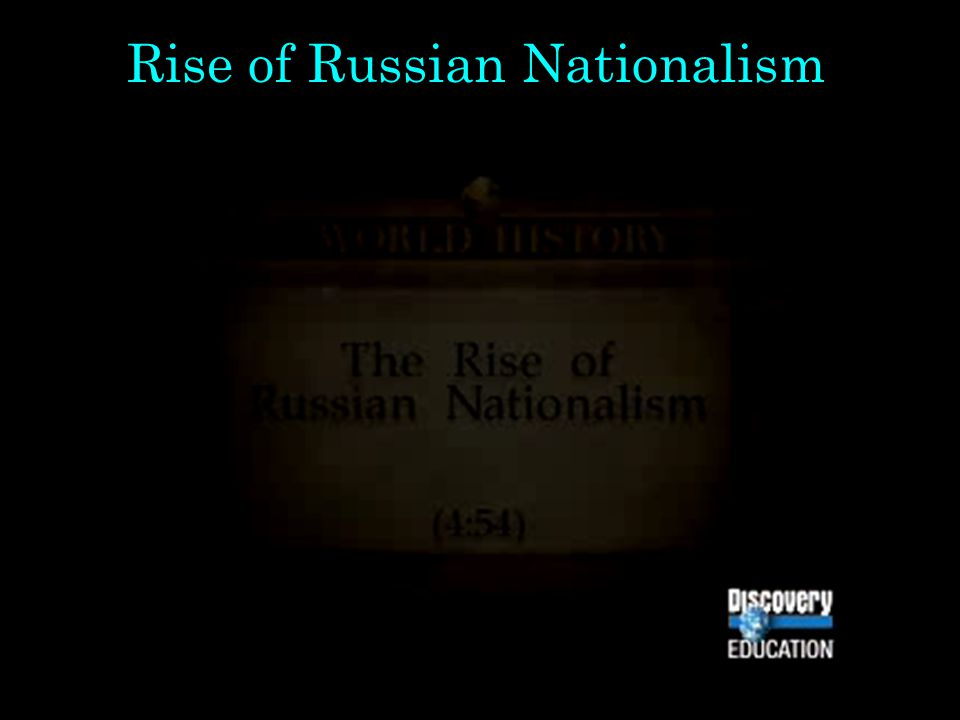 Rise of Russian Nationalism