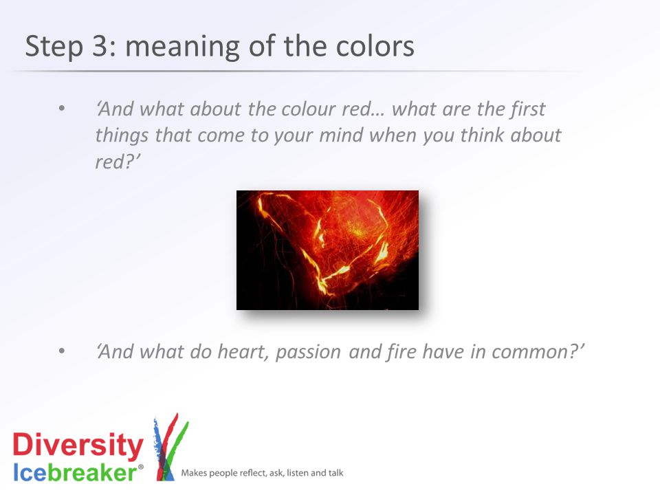 Step 3: meaning of the colors