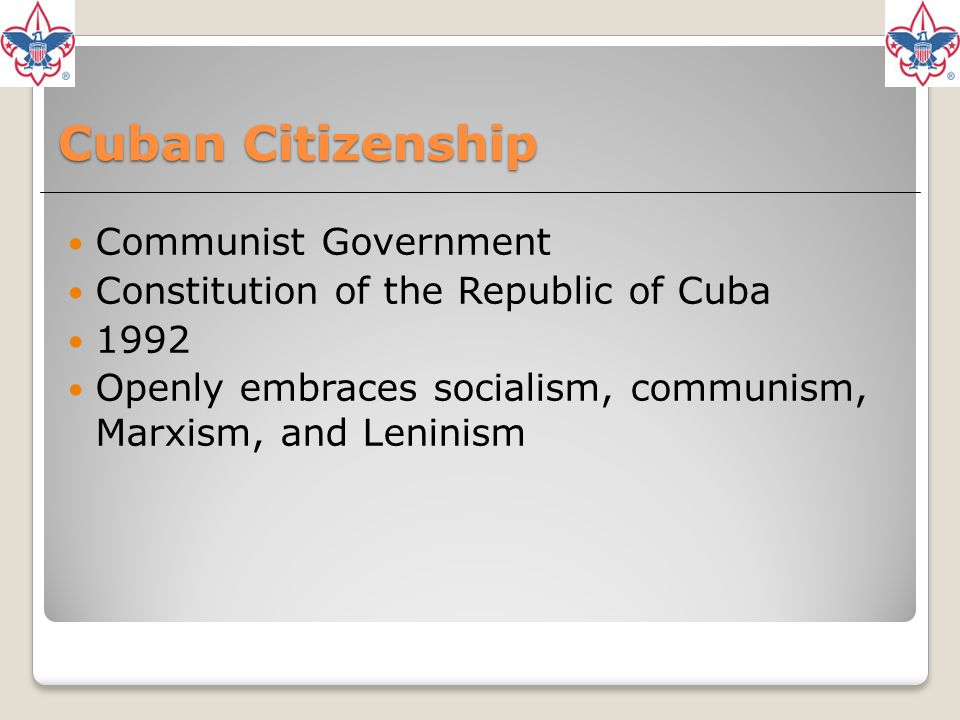 Cuban Citizenship Communist Government