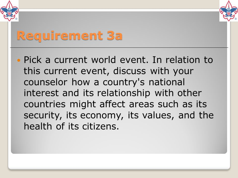 Requirement 3a