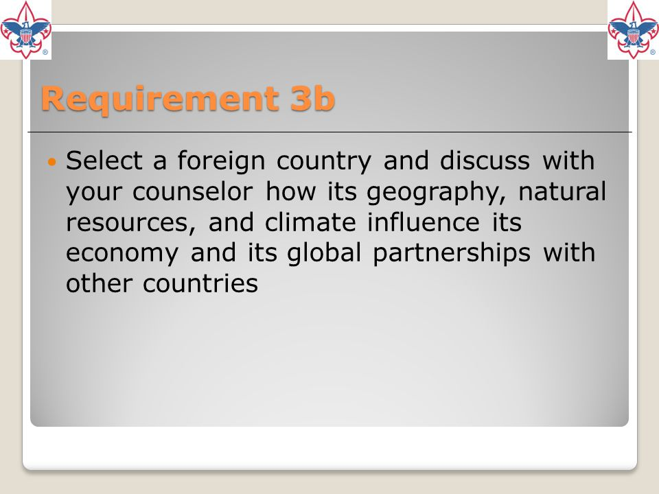 Requirement 3b