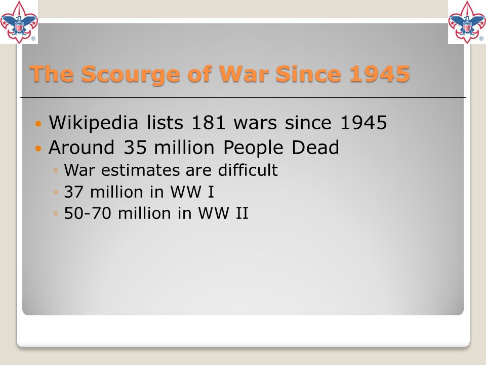 The Scourge of War Since 1945