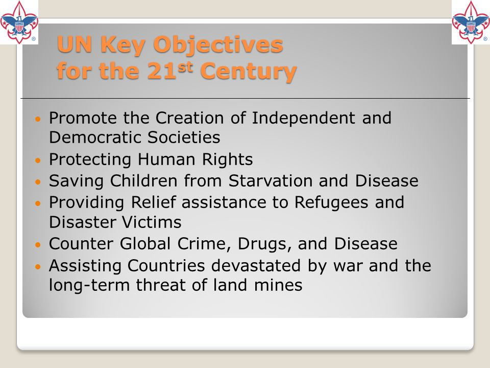 UN Key Objectives for the 21st Century