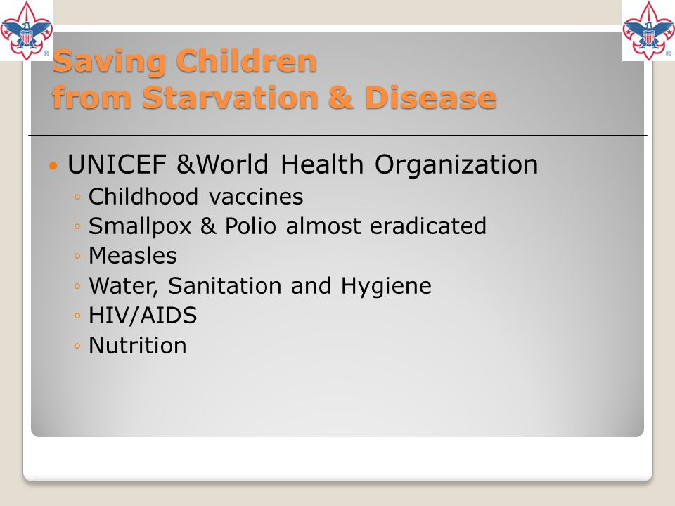 Saving Children from Starvation & Disease