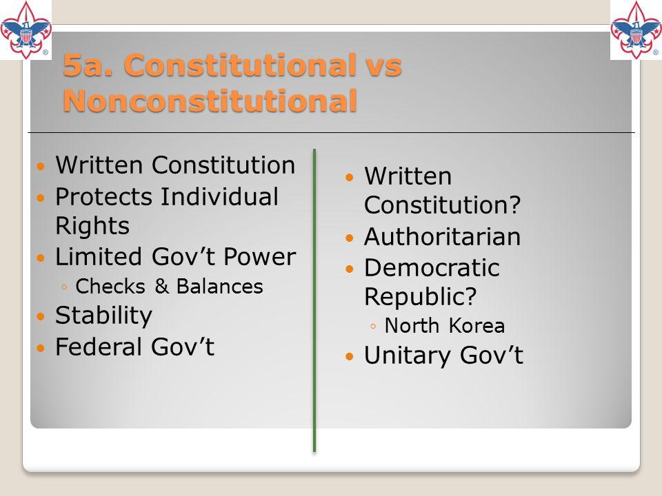 5a. Constitutional vs Nonconstitutional